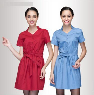New Design Arrived, Restaurant & Hotel & Coffee Waitress's Dress In Summer,The Maid's Work Uniform,Free Shipping,N21(China (Mainland))