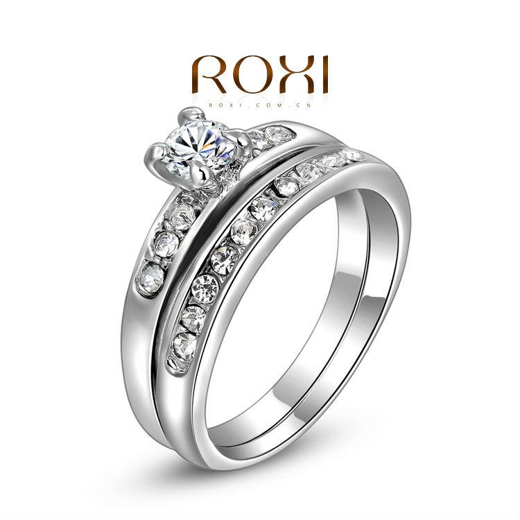 Гаджет  ROXI exquisite platinum plat double rings,fashion jewelrys,high quality,newest,factory price,best Christmas gifts,2010219290 None Ювелирные изделия и часы