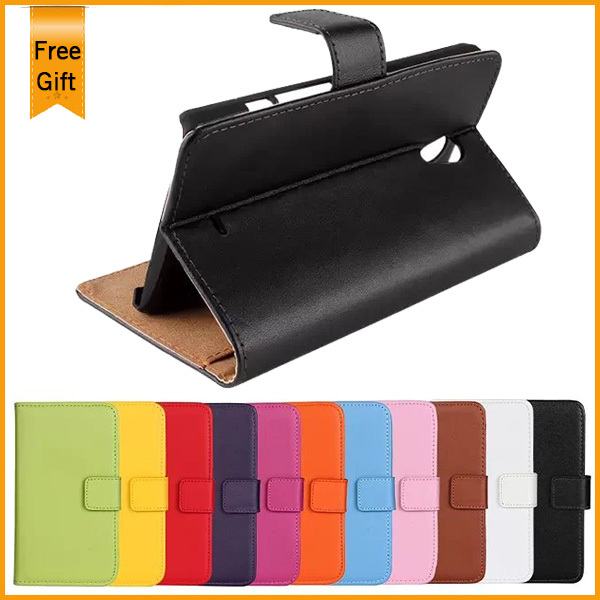 Luxury Wallet Genuine Leather Case Flip Cover For SONY Xperia T LT30p Case Free Shipping+with Stand And Card Slots(China (Mainland))