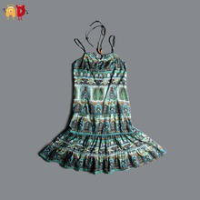 AD National Style Beach Sundress Well-made Girls Dress Teenager Girls Sundress Children Kids Girls Clothing roupas vestidos