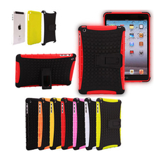 2 in 1 Durable ShockProof Hybrid Heavy Duty Stand Case Cover For Apple iPad Mini 1 2 3 Fashion phone bag 7 Colors Hot sale
