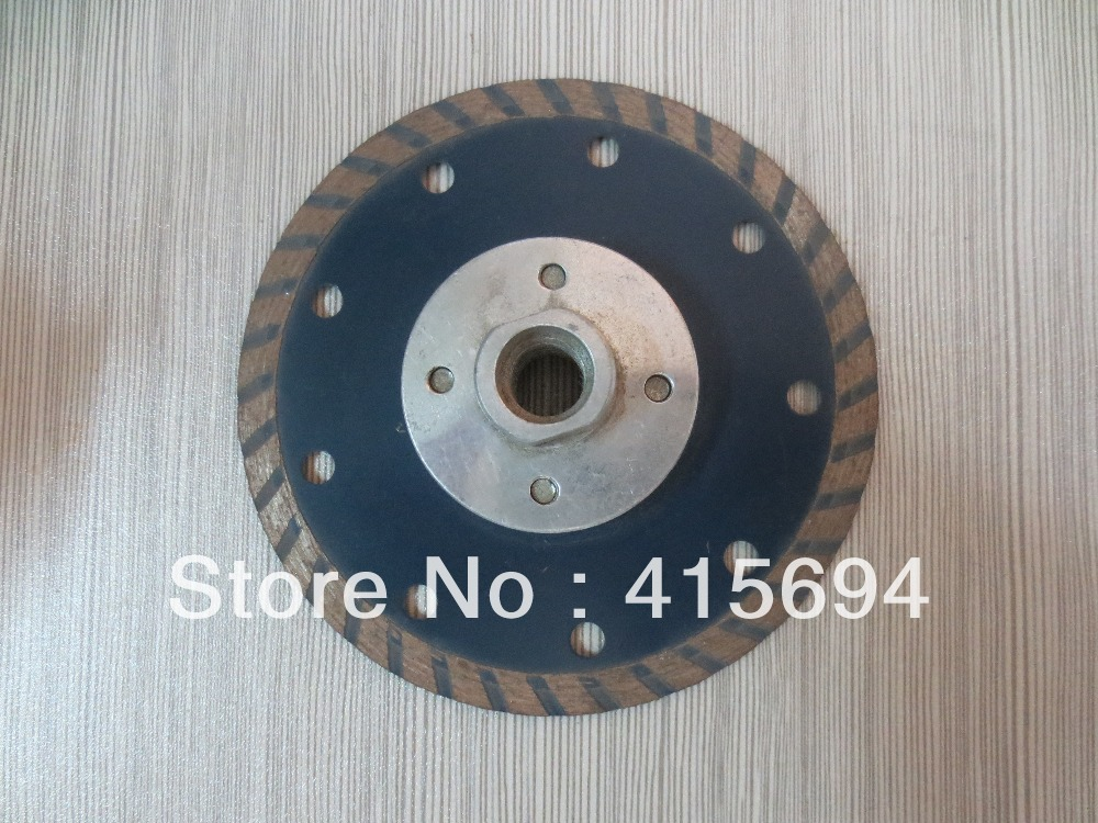 125x7xM14 cold pressed turbo diamond saw blade with flange for granite,marble,bricks and concrete cutting tools, power tools(China (Mainland))