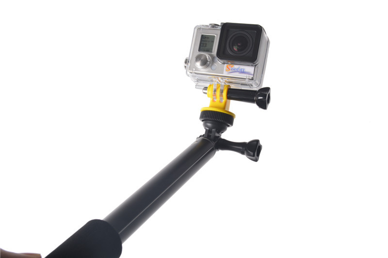 new waterproof monopod tripod extendable handheld monopod selfie stick monopod mount adapter. Black Bedroom Furniture Sets. Home Design Ideas