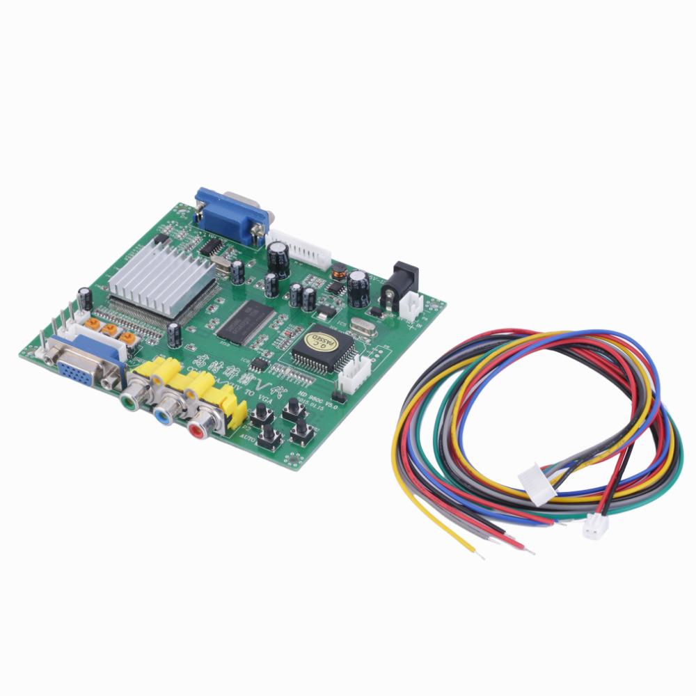 1 Set New RGB CGA EGA YUV to VGA HD Video Converter Board Moudle HD9800 GBS8200 Free Shipping(China (Mainland))