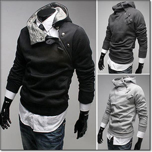 Mens Turtleneck Jacket Casual Korea Men's Jacket Slim