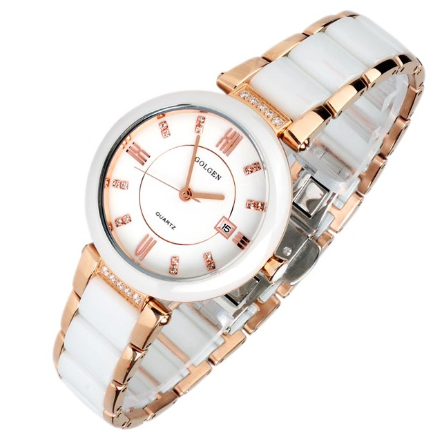 Watch 7023l diamond ceramic fashion quartz ladies watch