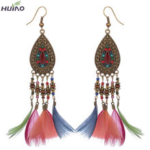 2016 Most Popular On Aliexpress Feather Earrings For Women(China (Mainland))