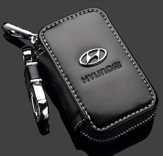 GIFT For Hyundai Solaris Verna I30 IX35 Verna Santafe car leather car key chain key case key bag key holder(China (Mainland))
