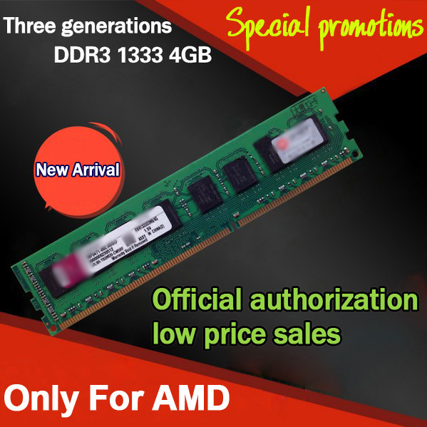 Hot Brand DDR3 1333 4GB Desktop PC Computer Memory For AMD DDR 3 PC2-10700 Memoria RAM DDR3 4GB Dual Channel 8GB Compatible 1066(China (Mainland))