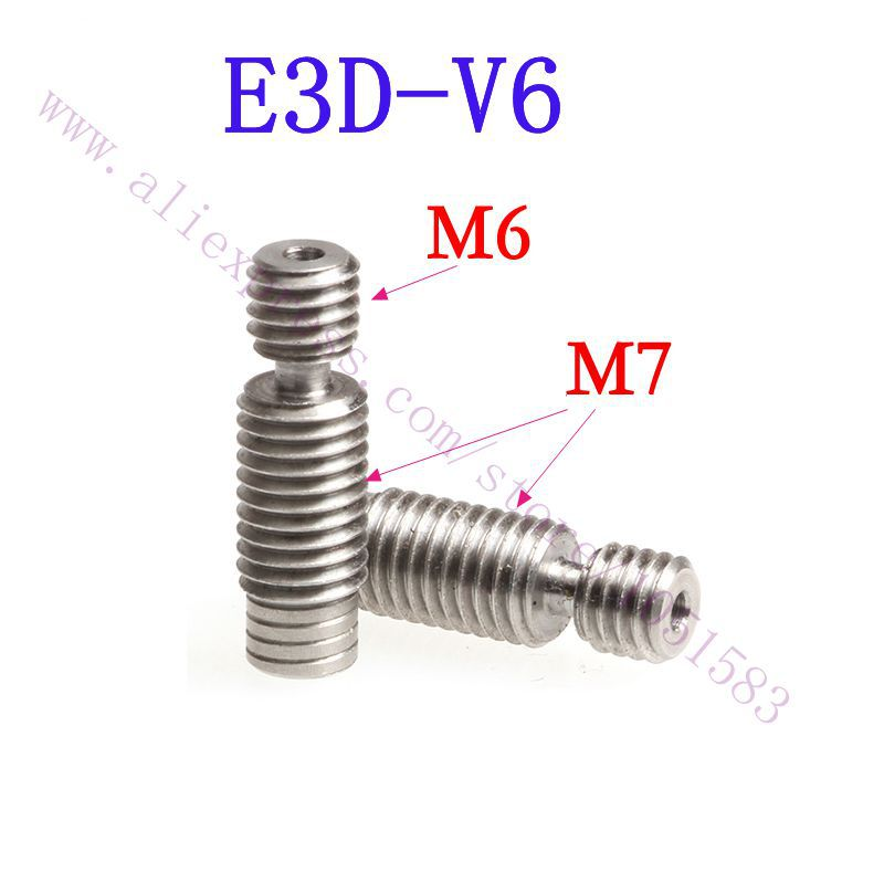 5pcs lot E3D V6 Bowden Hotend Heatbreak Feeding Tube All metal Stainless Steel Pipes for 1