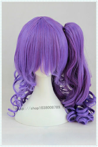 Free Shipping murasakibara atsushi (Female) Purple Mix Chip On Cosplay Costume Wig<br><br>Aliexpress