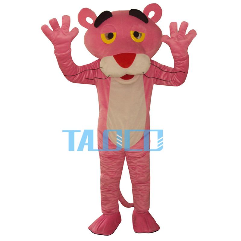 Pink Panther Mascot Costume Cartoon Fancy Dress Outfit Free Shipping Adult Size(China (Mainland))