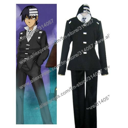 Freeshipping-anime products Soul Eater Death the Kid Cosplay Costume(China (Mainland))
