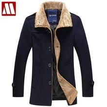 New men's jacket high quality wool coats thickening winter jackets for man single breasted cashmere overcoat big size to 5XL(China (Mainland))