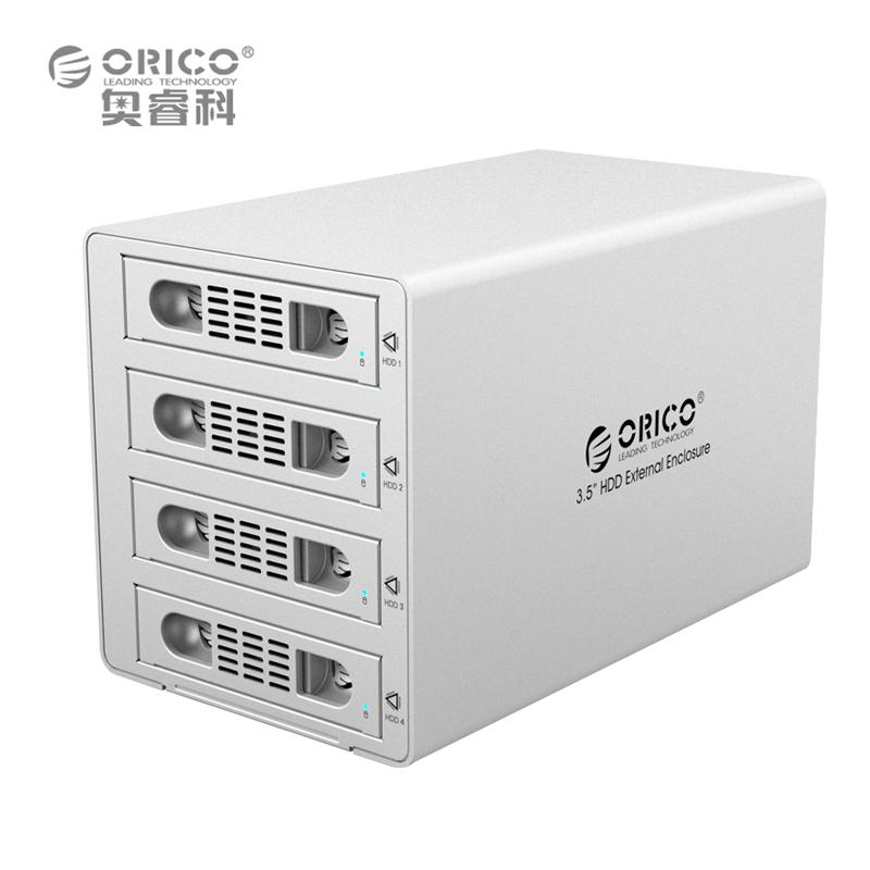 "ORICO 3549RUS3 Tool Free Aluminum 4 Bay 3.5"" SATA2.0 USB3.0&eSATA HDD External Docking Station RAID Function 4*8TB HDD Case(China (Mainland))"