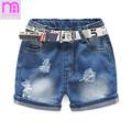Summer Brand Baby Boys Girls Denim Shorts Fashion Hole High Quality 3 8 Years Children Jeans