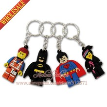 100Pcs/Lot Hot Movie Super man Key Chains Action figure Keyrings Keychains Kids Toy Key Holder travel accessories(China (Mainland))