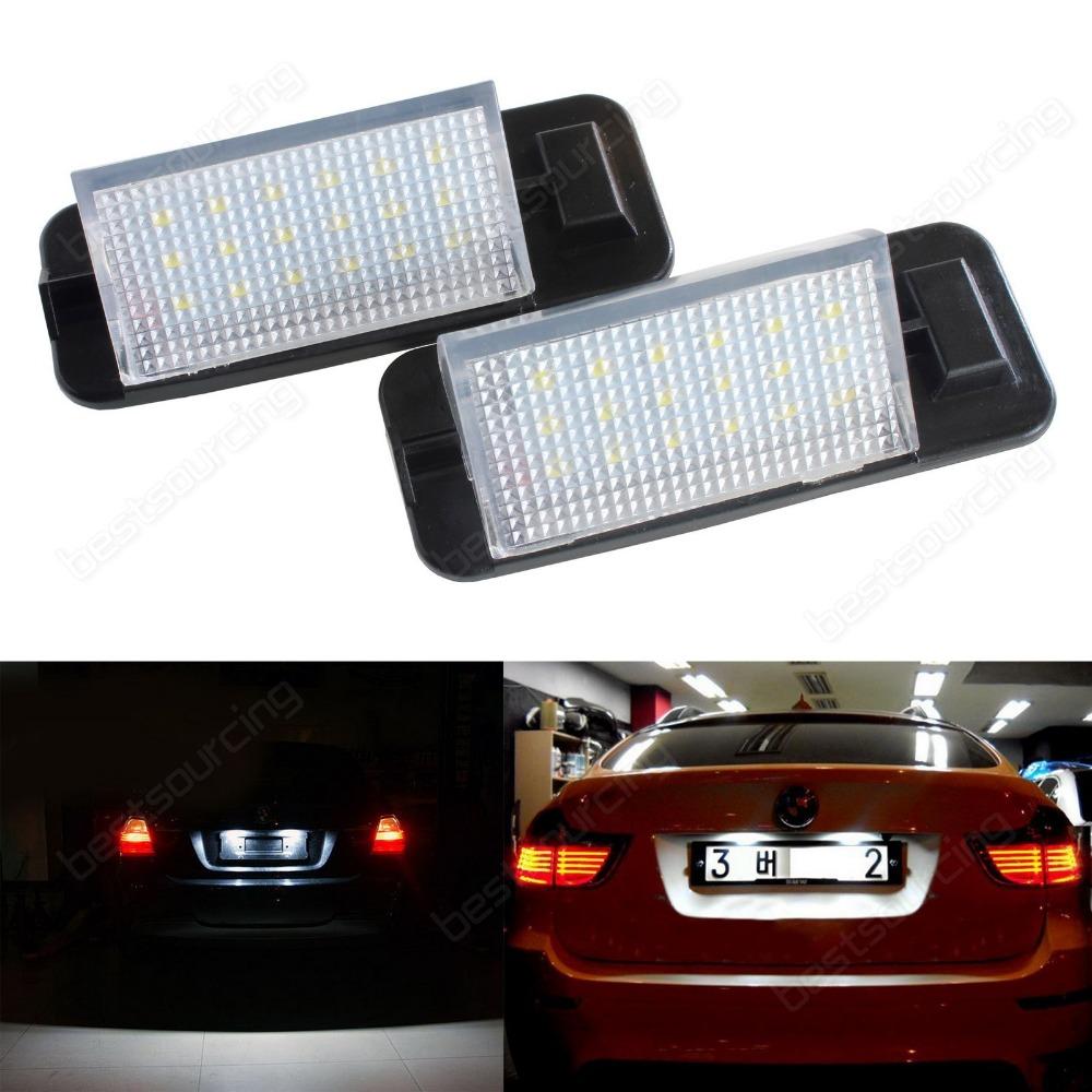 2x 3 Series E36 90-98 LED Licence REG Number Plate Light White Error Free M3(CA246)(China (Mainland))