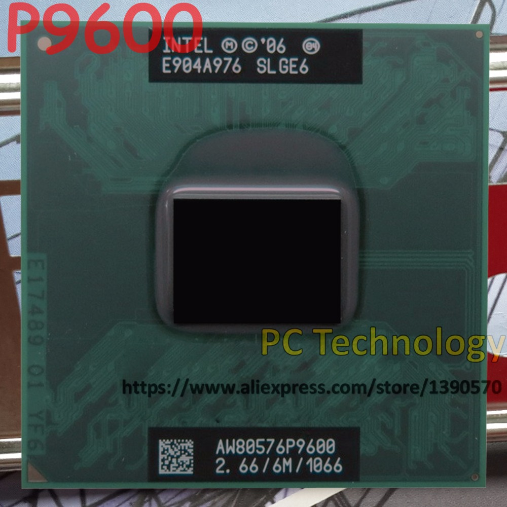 Original P9600 Intel Core2 Duo CPU P9600 (6M Cache, 2.66GHz, 1066MHz FSB) Socket 478 laptop best chips processor free shipping(China (Mainland))
