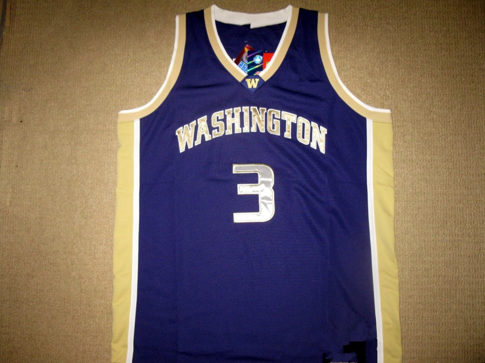 Brandon Roy #3 WASHINGTON HUSKIES College Basketball Jersey Embroidery Stitched Custom Any Name and Number(China (Mainland))