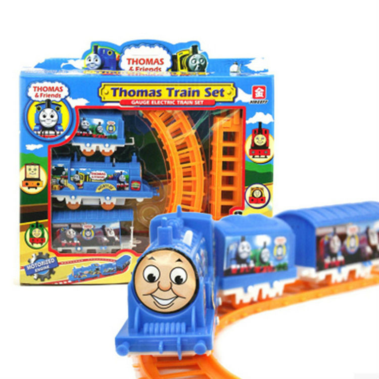 2015 Promotion Rushed Trains Cars Kids Toys Thomas Train Set And Friends Electric Track Toy Small Splicing Rail Free Shipping(China (Mainland))