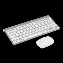 White Keyboard Mouse Combos 2.4G Keyboard + Mute Wireless Mouse Mice Combo Set Kit For PC Computer Gaming(China (Mainland))