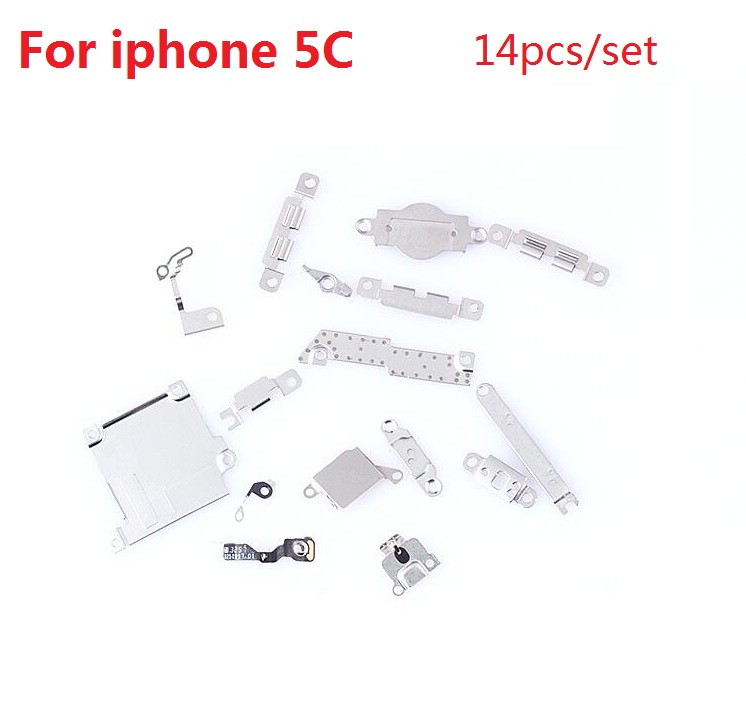 Best Premium 14pcs/set small component iron For Apple iPhone 5C small fitting Disassemble parts Replacement with retail package(China (Mainland))