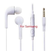 Lo nuevo samsung s4 3.5mm en la oreja los auriculares con micrófono y control remoto de volumen control para samsung galaxy s4 s6 s6 i9800 xiaomi huawei htc