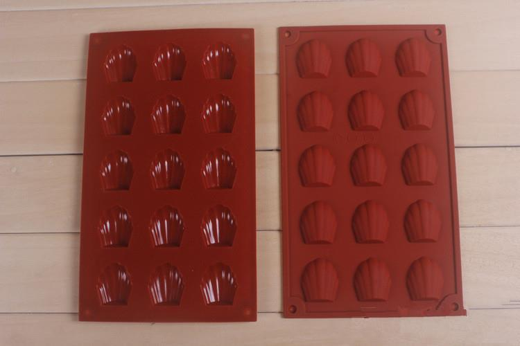 FDA quality biscuit mold silicone bakeware microwave oven baking cake mold shell chocolate moulds SICM-215-2(China (Mainland))