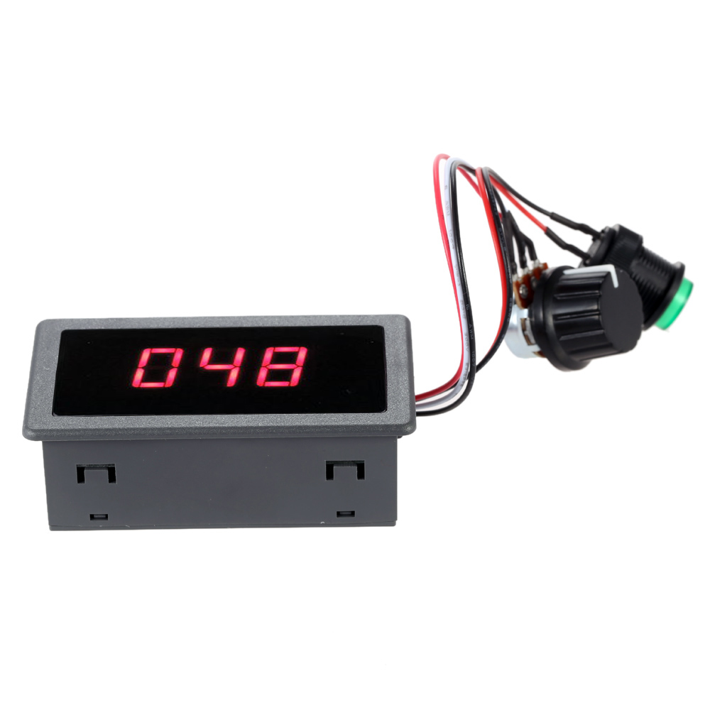 Digital LED DC Motor Speed Controller PWM Stepless Speed Control Switch With Digital Display DC 6V 12V 24V Max 8A Motor(China (Mainland))