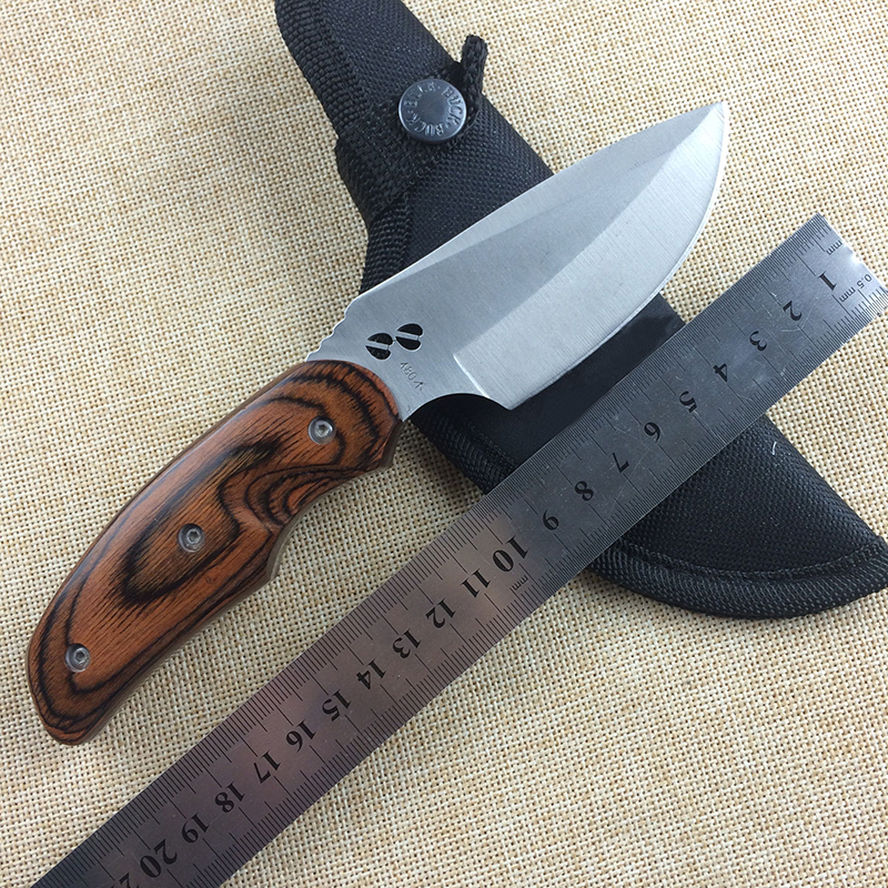 Buck 076 Fixed Hunting Knife With 440C Blade Wood Handle Nylon Scabbard Tactical Survival Knife Camping Multi Tools Pocket Knife<br><br>Aliexpress