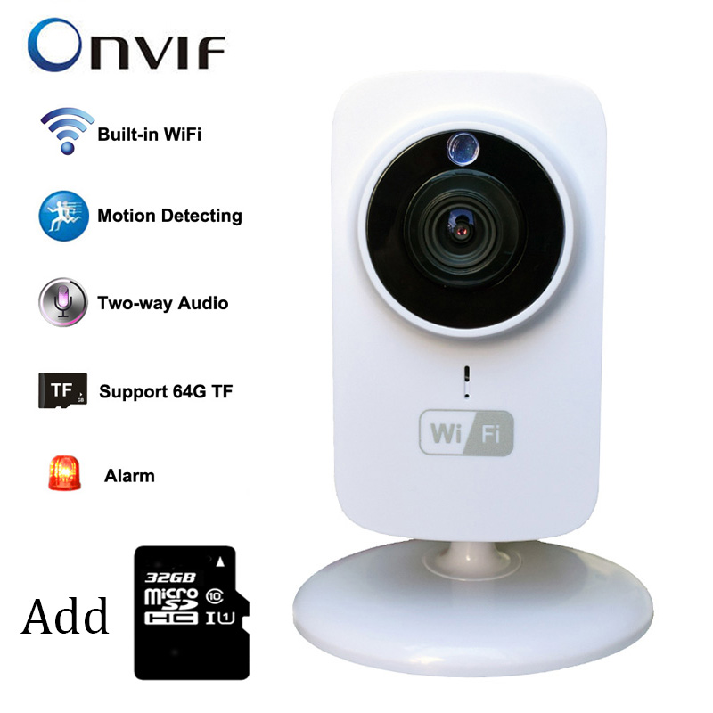 IP Camera Wireless HD 720P Smart Wifi Baby Monitor Network Security Camera CCTV Home Protection with 32GB micro SD(China (Mainland))
