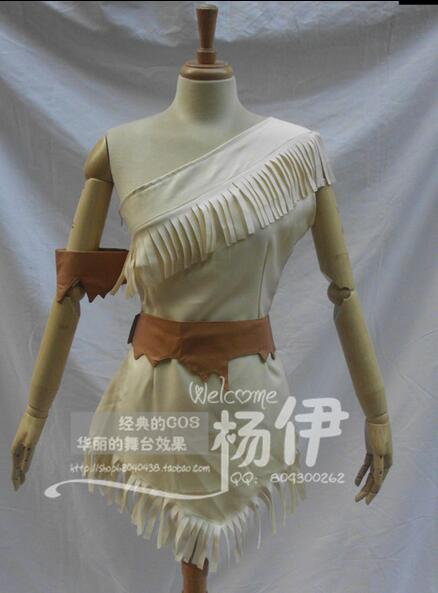 2017 New Movie Cosplay Costume Pocahontas Dress Party Pocahontas Theme Costumes Princess For Womens Halloween Clothing