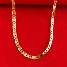 Retail/Wholesale New Arrival High quality Classic Jewelry Vacuum Plating 24K Gold chain Necklace,Women necklace, B029-1(China (Mainland))