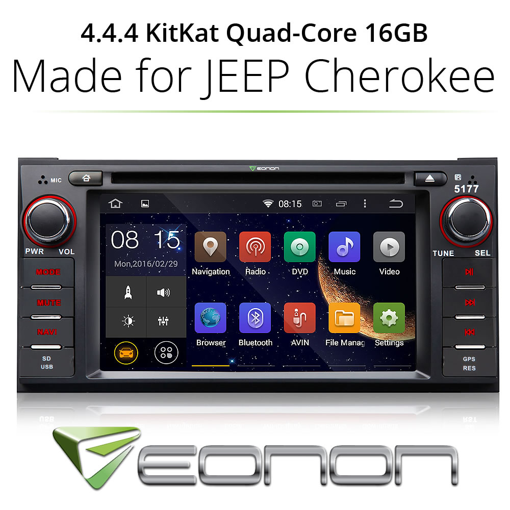 Android 4.4 in Car DVD Player GPS Bluetooth Touch Screen for Jeep Wrangler Journey(China (Mainland))