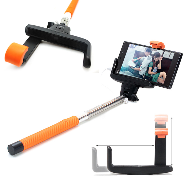 kjstar z07 7 audio cable wired selfie stick extendable palo selfie monopod fo. Black Bedroom Furniture Sets. Home Design Ideas