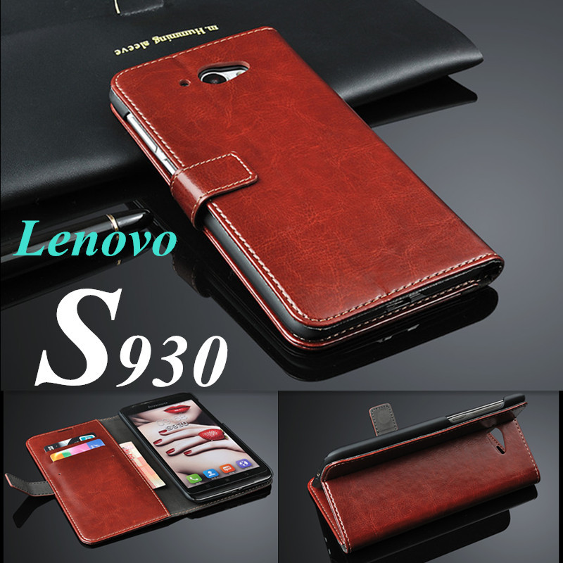 Lenovo S930 Case Genuine leather cases for Lenovo S930 Vintage Retro Flip Cover wallet Mobile Phone Bags & Cases Accessories(China (Mainland))