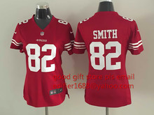 100% stitched women San Francisco 49ers ladies 16 Joe Montana 42 Ronnie Lott 80 Jerry Rice 82 Torrey Smith 81 Anquan Boldin(China (Mainland))