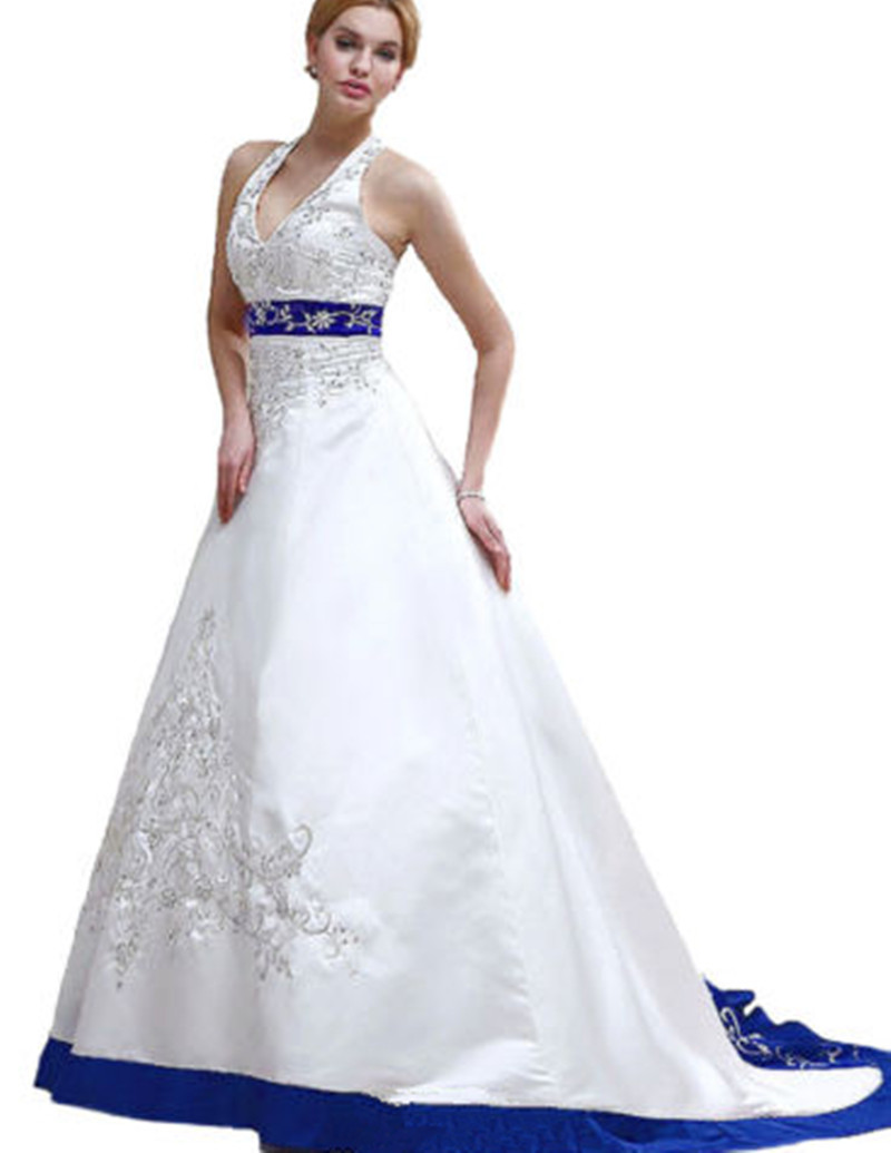 blue and white wedding dresses buy cheap blue and white wedding