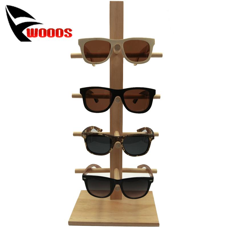 Natural Handmade Sunglasses Bamboo Display Eyewear wood stand Display eye glasses(China (Mainland))
