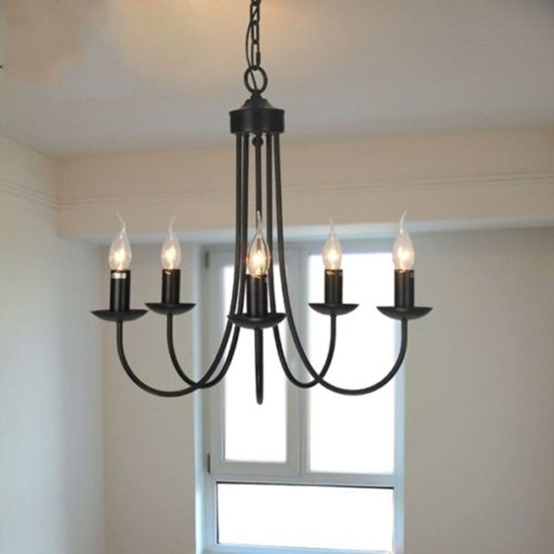 Industial Loft Retro Black Pendant Lamp Chandelier