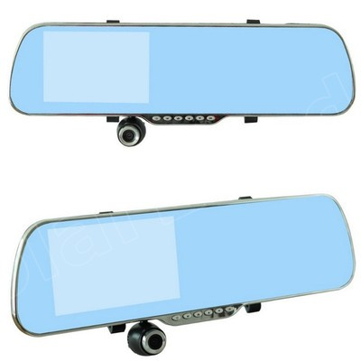 New 5 inch Rearview Mirror Car Rear view Full HD 1080P car DVR dual lens video recorder vehicle night vision high quality