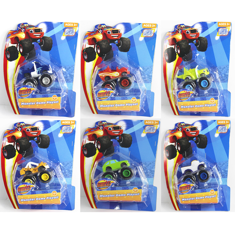 6pcs/sets Blaze Monsters Flame Machines Inertial Car Trucks Model Car Action Figures Vehicle Car Model Car Toys Nice Package #F(China (Mainland))