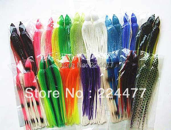 8--8.5inch Octopus Lure Fishing Lure Soft Skirt Bait  Sea Trolling Fishing Lure Tuna Lure Fishing Tackle<br>