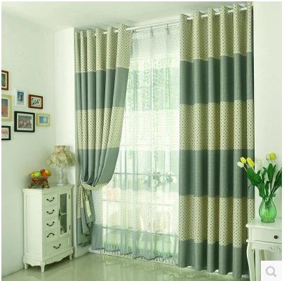 Personalizados terminou cortinas quarto simples sala de estar os xadrez cortina de sombra / cortinas de impressão de bolinhas(China (Mainland))