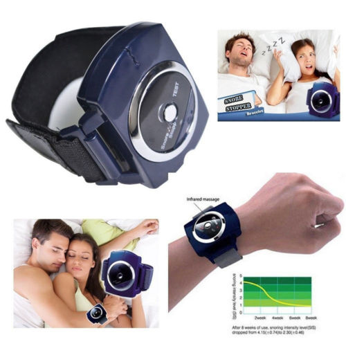 Infrared Intelligent Anti Snore Wristband Watch Cessation Stop Cure Solution Pure Sleeping Night Aid