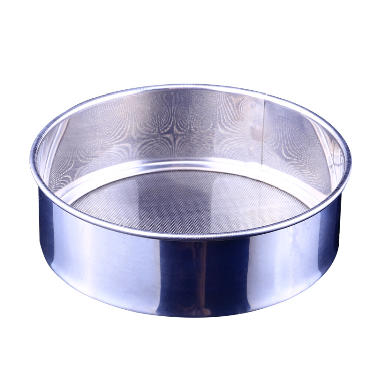 2016 Cake Decorating Tools Baking Tools 16cm Stainless Steel Sieve 30 Mesh Ultra Fine Bucket With Powder With Circular Flour(China (Mainland))