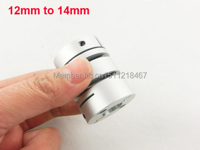 12mm x 14mm Clamp Tight Motor Shaft Connector Coupling Joint L44mm D34mm(China (Mainland))