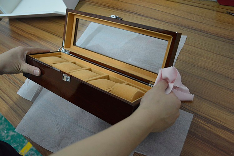 BIG Promotion Vintage Watch Box 5 Grids Boxes for Watches Display Antiqued Wooden Cases Pillow Gift cajas para relojes