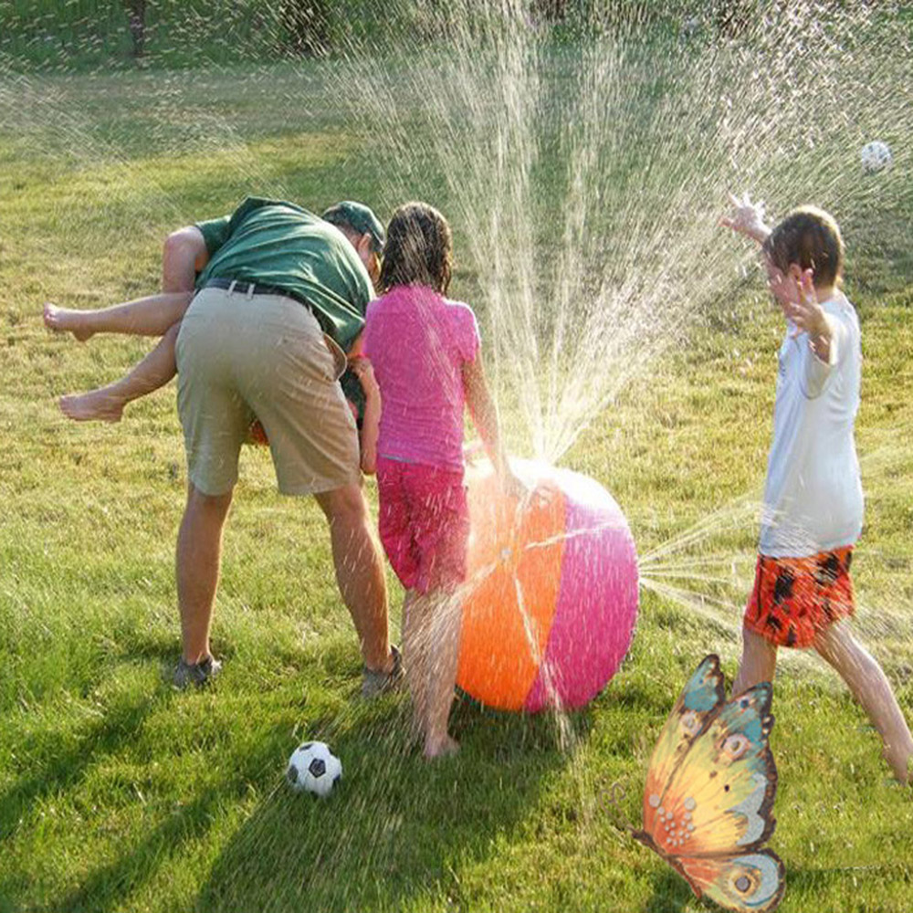 HOT Children Summer Inflatable Water Spray Ball Outdoor Sport Swimming Party Toy Kids Water Playing Inflated Toy Balls Game Toys(China (Mainland))